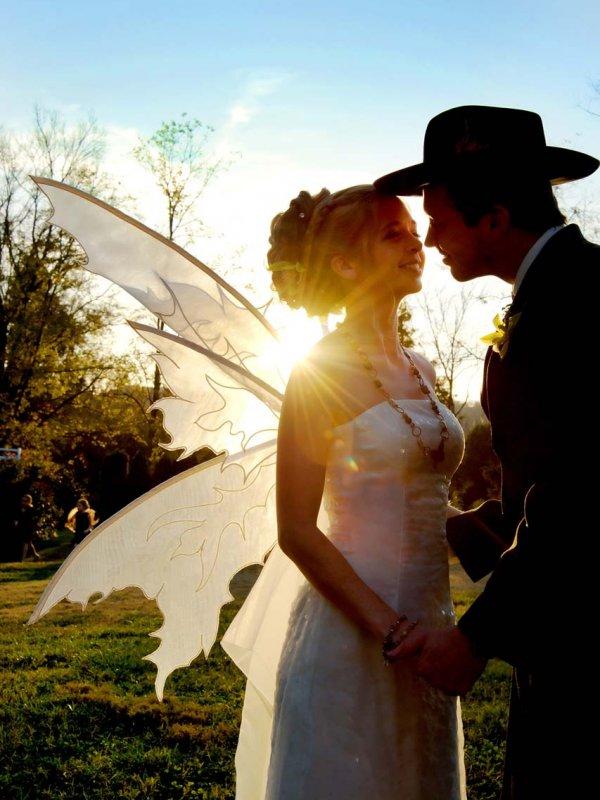 Rustic Halloween Wedding: Aspen & Brad