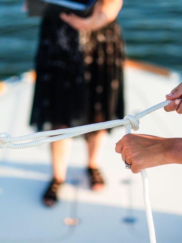 Tying the knot wedding ceremony