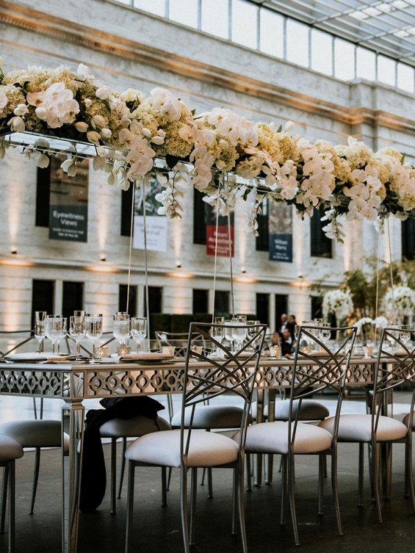 Overhead Wedding Centerpieces