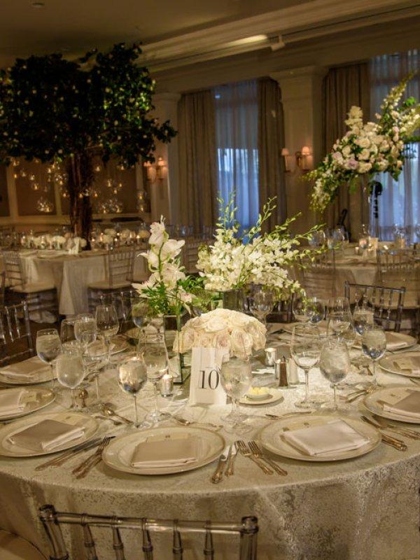 Greenhouse Wedding Reception Tablescape 0