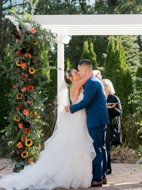 Jillian Max Ceremony Kiss