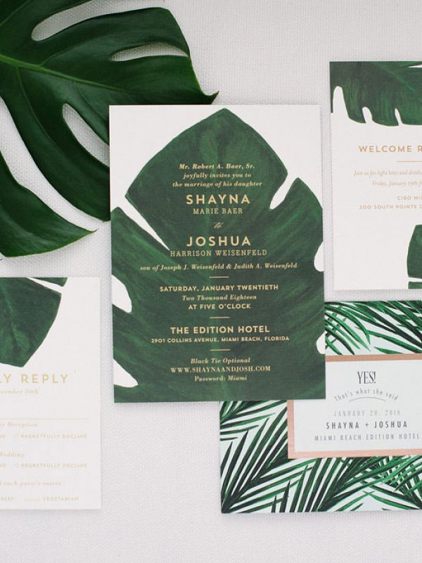 Miami Wedding Invites
