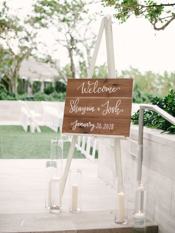 Miami Wedding Welcome Sign