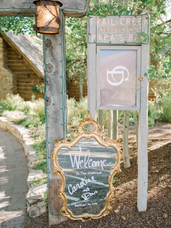 Reception Mountain Love Signs