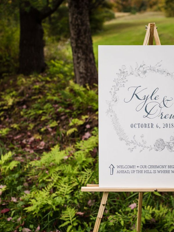 Wedding Sign Kyle And Drew