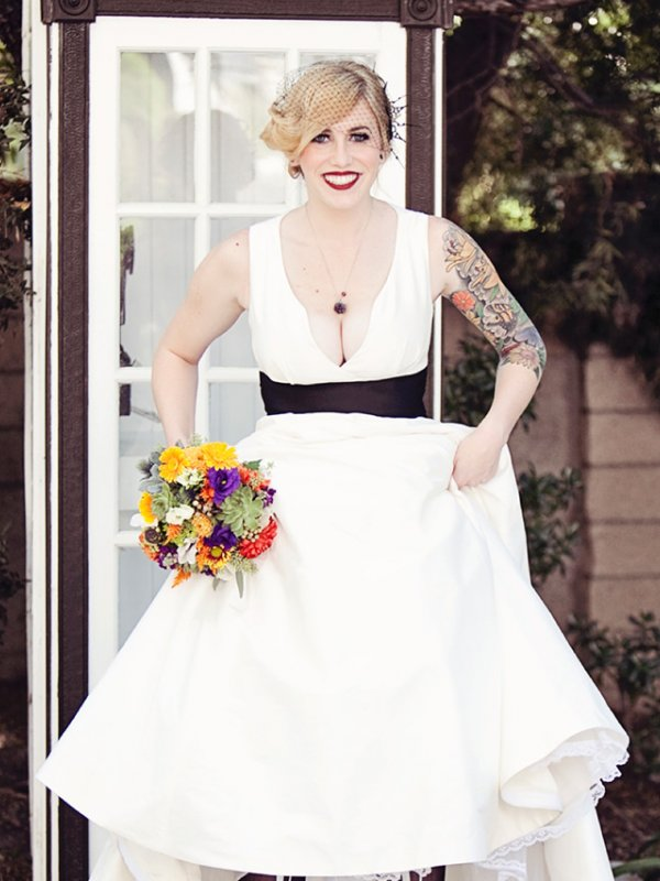 Bewitching Halloween Wedding: Kristen & David in Orange, CA