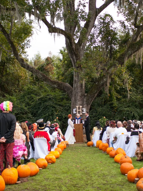 Scary Halloween Wedding: Erin & Eric in Myrtle Beach, SC