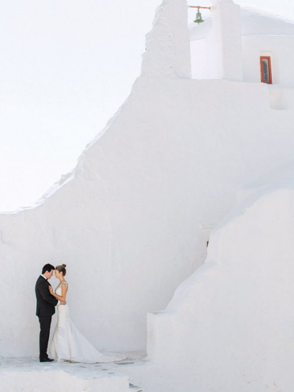 Blue Skies: Kylene & Thomas in Mykonos, Greece