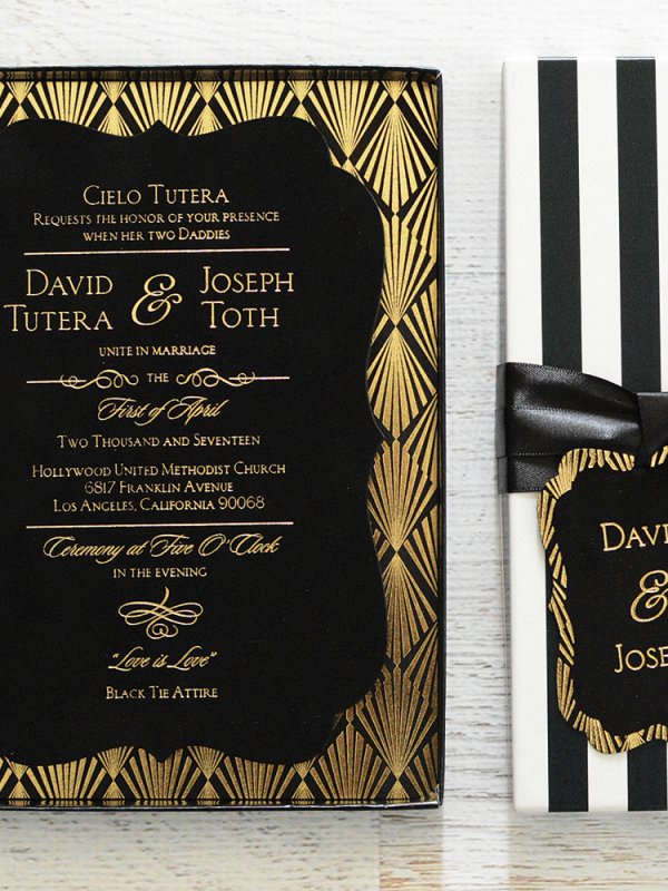Old Hollywood Glam: David Tutera & Joey Toth in Los Angeles, CA