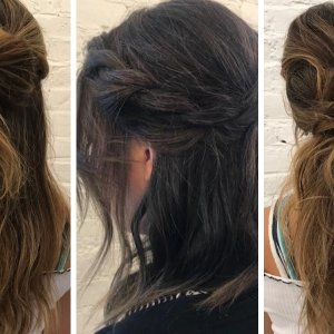 3 Easy DIY Wedding Day Hair Ideas