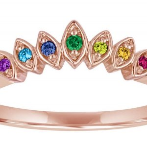 Rainbow Engagement Rings