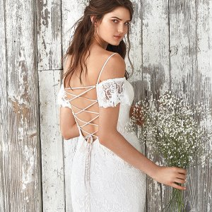 Lillian West wedding gown