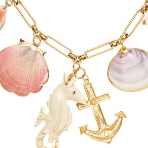 Beach charm necklace