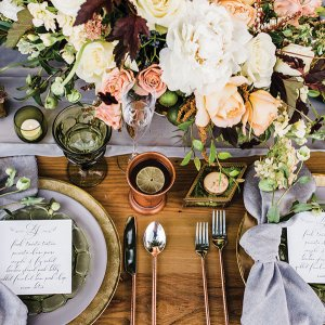 nature inspired wedding reception table