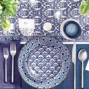 Blue wedding tablescape