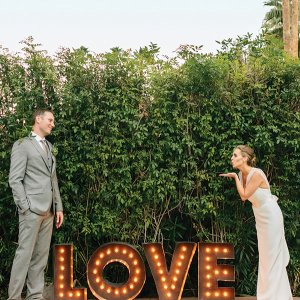 Love wedding sign lights