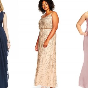 10 Flirty Plus-Size Bridesmaid Dresses