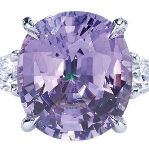 Purple sapphire engagement ring by Jean Dousset