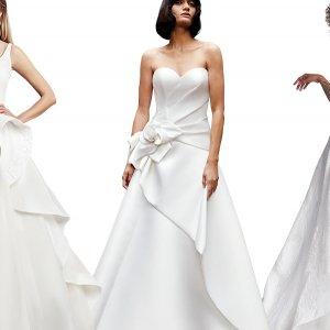 Asymmetrical wedding gowns