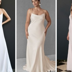 slip wedding gowns
