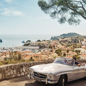 Classic car tour in southern Europe
