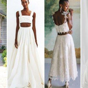 two piece wedding dresses