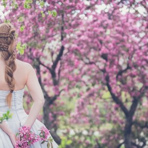 braided spring wedding hairstyle