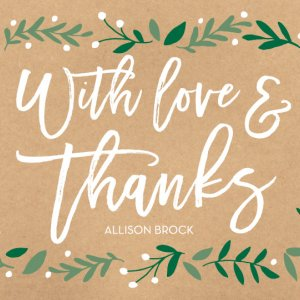 Modern wedding thank you notes