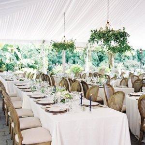 Wedding under tent