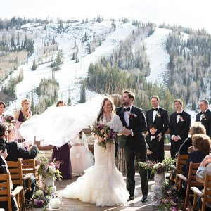 winter wedding in the mountains