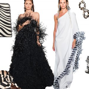 Zebra wedding gowns and accessories