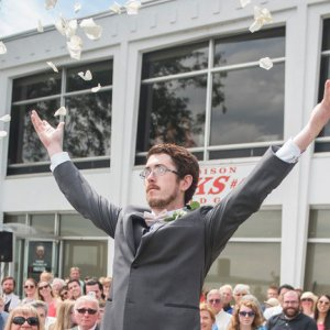 flower man at wedding