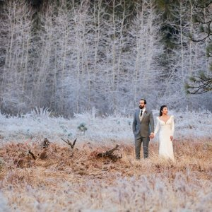 winter wedding photo