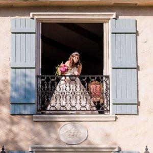 Fairy tale inspired wedding photo