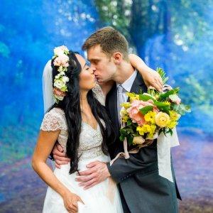 Ethereal wedding photo