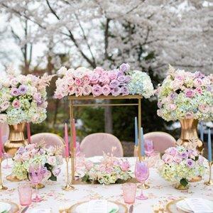 Spring wedding centerpiece