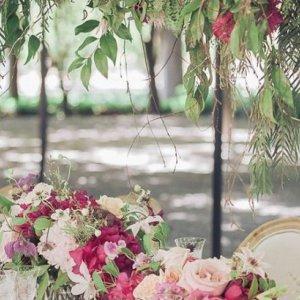 enchanted garden wedding centerpiece