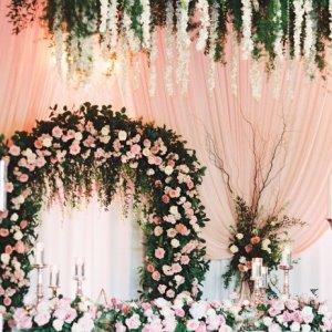 floral fantasy wedding reception decor