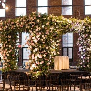 Floral wedding chuppah