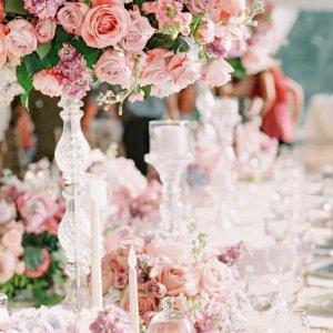 lush wedding centerpiece