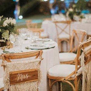 Macrame Wedding Reception Chair Decor