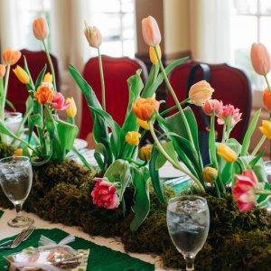 Tulip wedding centerpiece