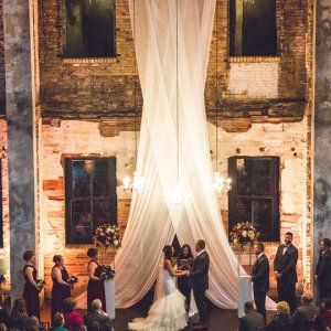 Indoor wedding ceremony
