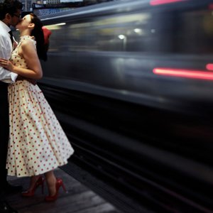 train engagement photo