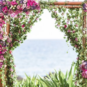 tropical wedding ceremony structure