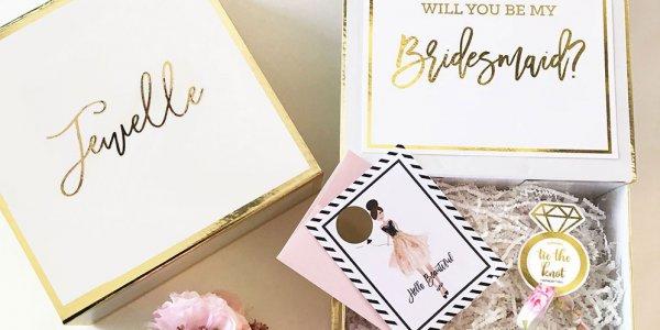 David's Bridal Bridesmaid Gift Box