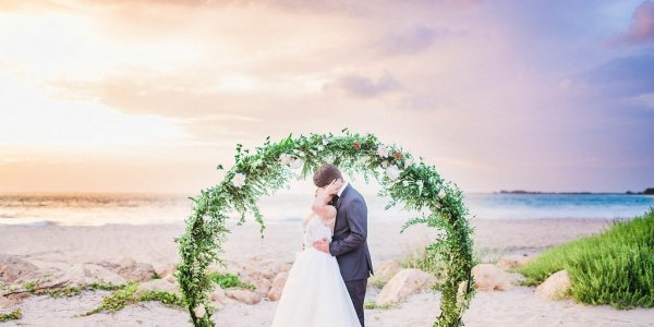 South Seas Island Resort Wedding Floral Arch