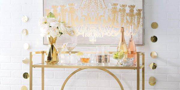 wedding registry bar cart
