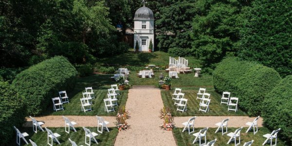 socially distant wedding ceremony seating