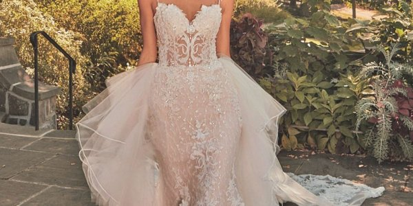 wedding gown with detachable skirt